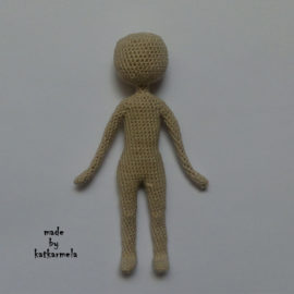 Frame knitted dolls: free pattern for the body for dolls in 12 cm