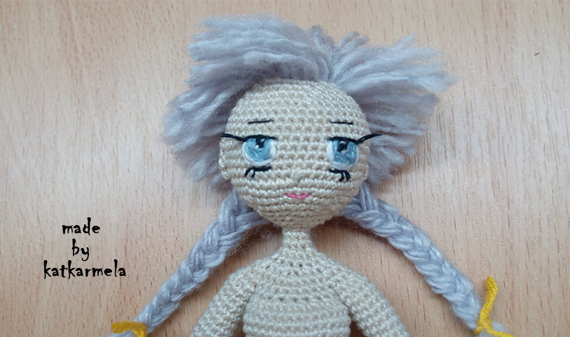 Как сделать лицо кукле амигуруми