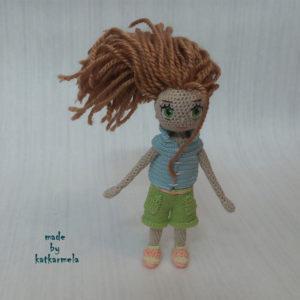 вязание каркасной куклы