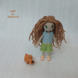 How to knit clothes for a doll Tsumugi