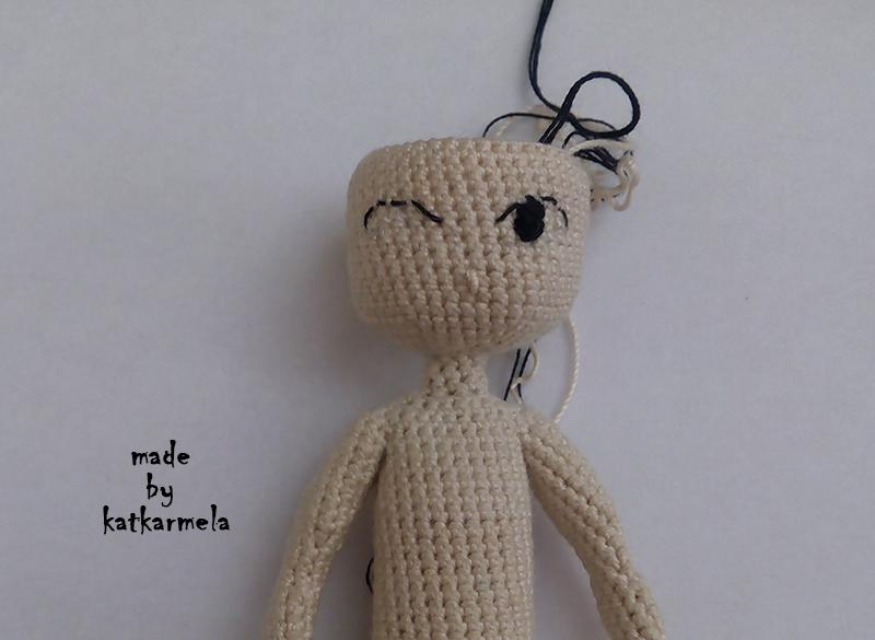 как вышить глаза кукле большеглазая куколка рея Katkarmela о вязании