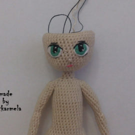 How to embroider a doll's eyes: Reya