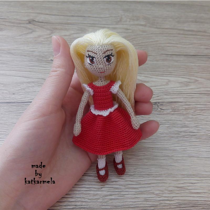 как связать куклу крючком