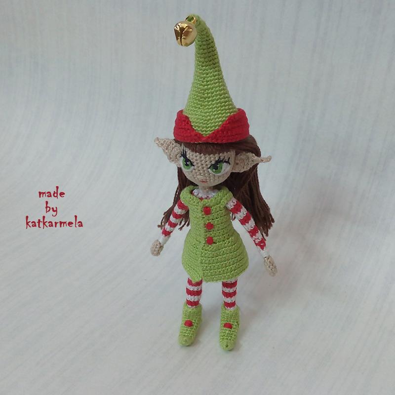 Вязаные куклы крючком со схемами: эльф-девочка Элли (Ellie ...