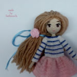 Схема вязания куклы крючком: Лира