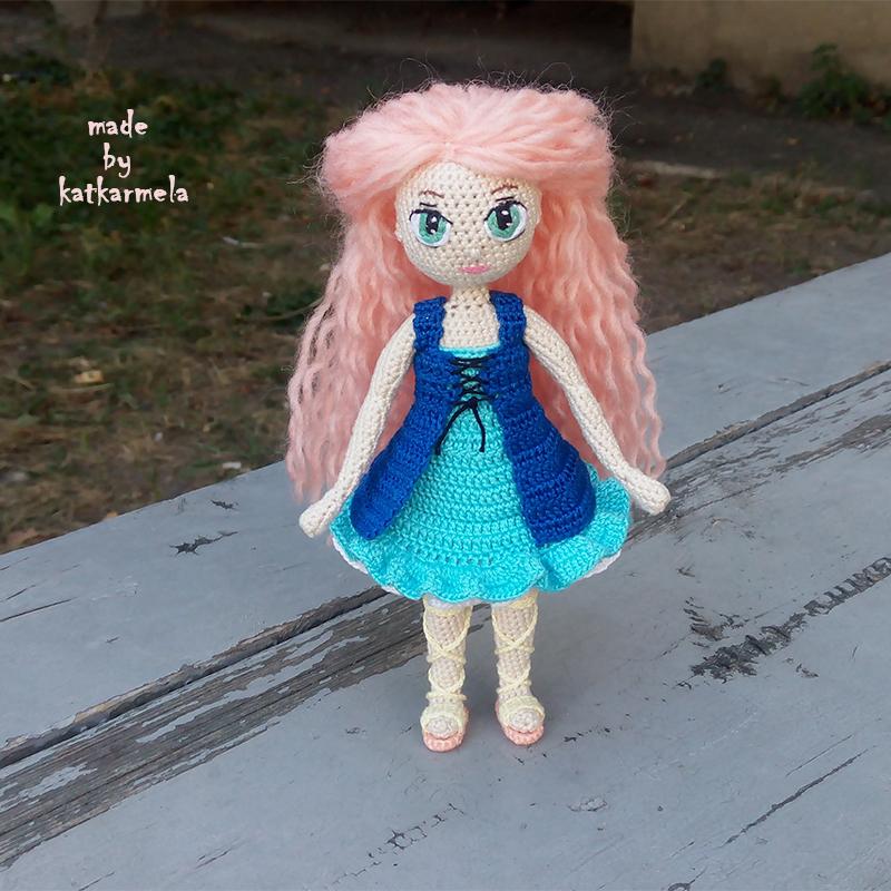 вязаная кукла крючком рея часть 1 тело Katkarmela о вязании