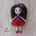 Knitted crochet doll Tina: free pattern