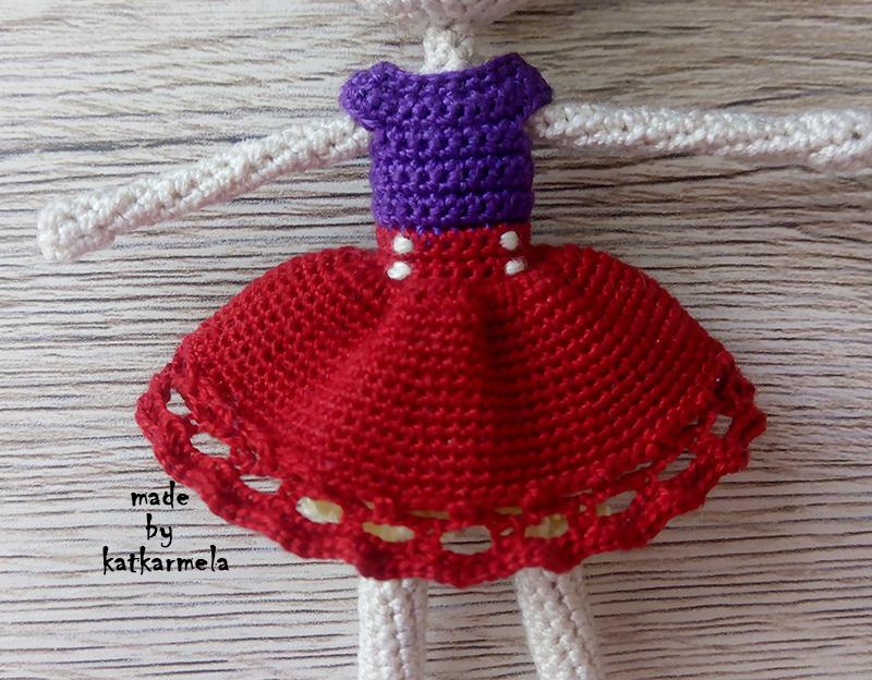 платье кукле крючком