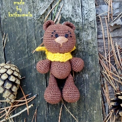 Crochet teddy bear Olli