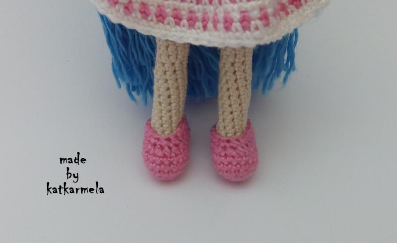 обувь для вязаной куклы