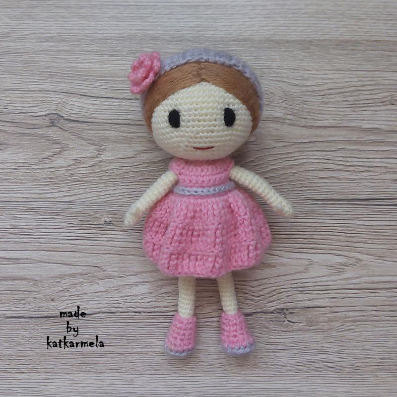 как связать куклу крючком для начинающих рози Katkarmela о вязании