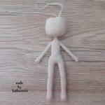 The knitting pattern of the body of an amigurumi doll: kukolichka