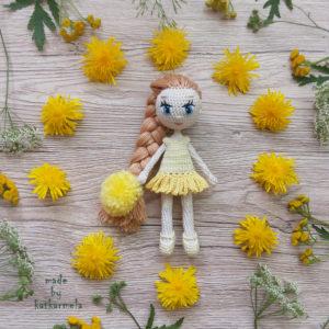 схемы вязаных платьев для кукол