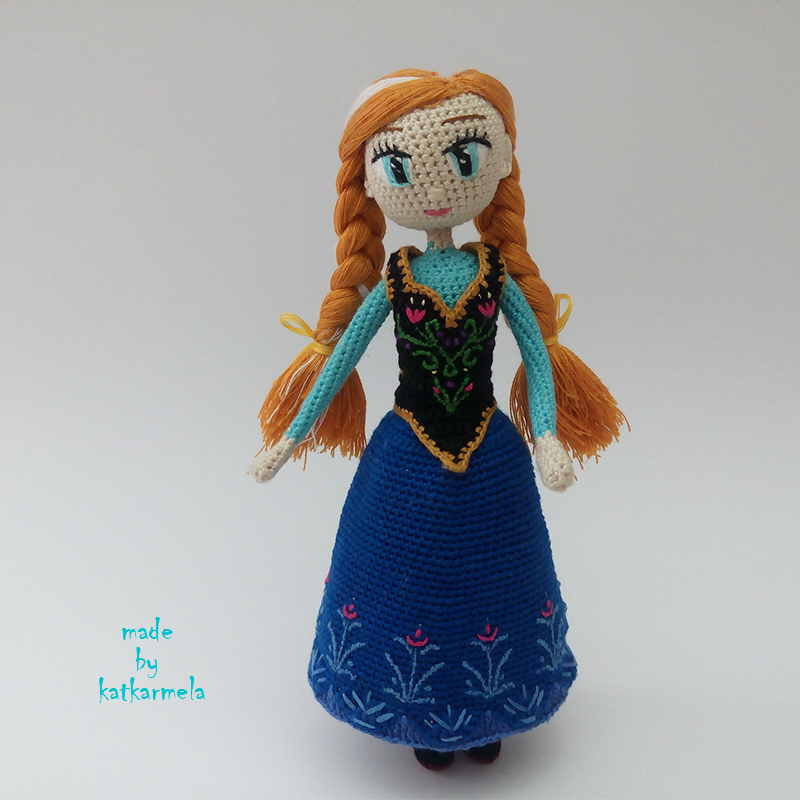 How to crochet doll Anna Frozen