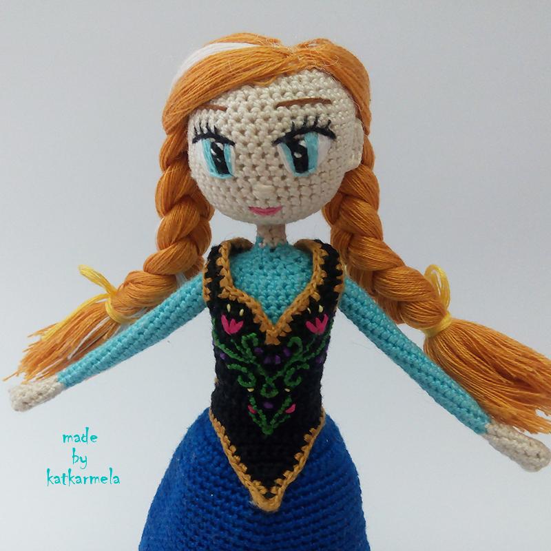 кукла анна холодное сердце крючком