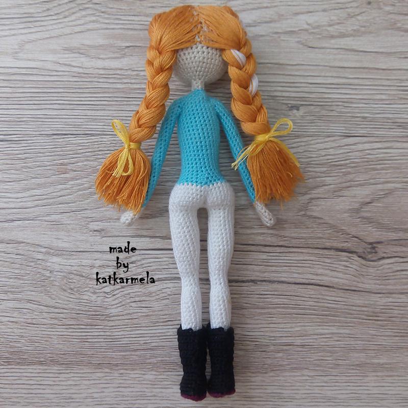 каркасная вязаная кукла крючком
