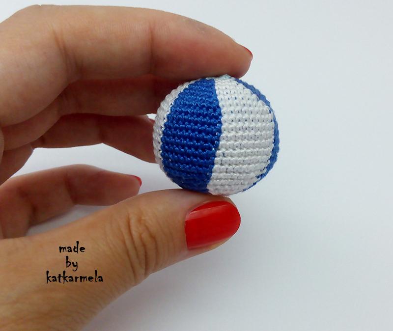 Пляжный вязаный мяч крючком - Katkarmela: игрушки ...