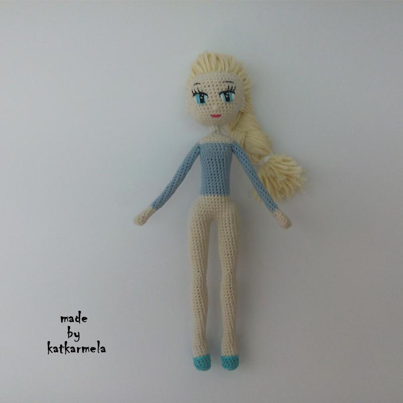 Вязание крючком куклы Эльзы, часть 1, тело - Katkarmela ...