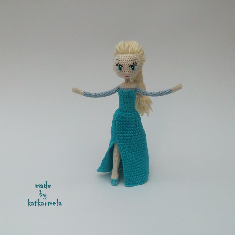 каркасная кукла крючком Эльза