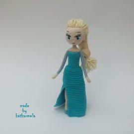 Каркасная кукла крючком Эльза, часть 2, одежда