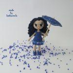 Схема вязаной куклы Лэтти: одежда и зонтик