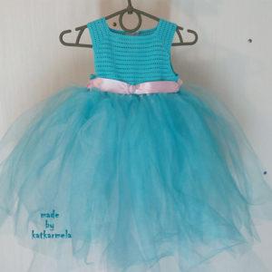 платье крючком с фатином для девочки