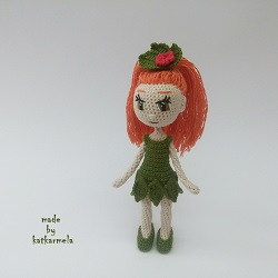 Вязаные каркасные куклы: лесная куколичка Лариэль