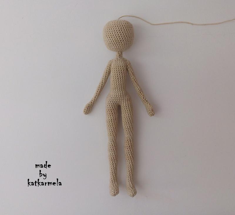 Pattern Of The Crochet Doll Knitting 15 Cm Katkarmela Toy