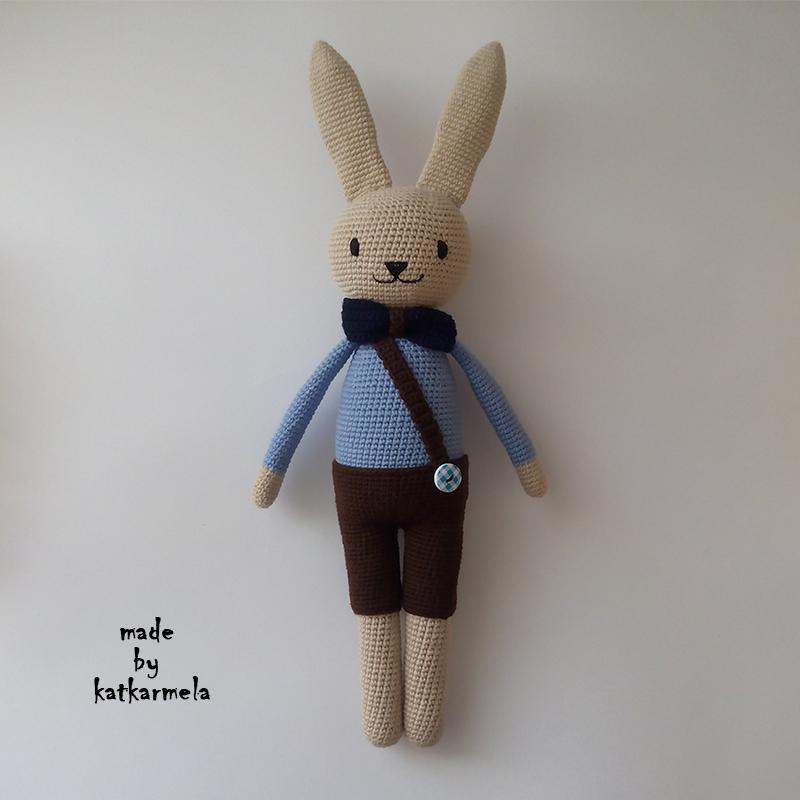 схема вязания зайца амигуруми