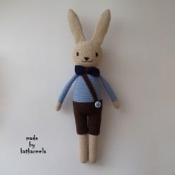 Схема вязания зайца амигуруми в штанах