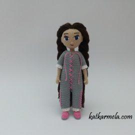 Каркасная вязаная кукла Соня, часть 2: пижама
