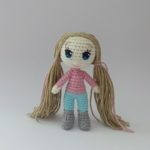 Knitted crochet doll Nina FREE Pattern