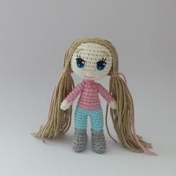 Knitted crochet doll Nina FREE Pattern
