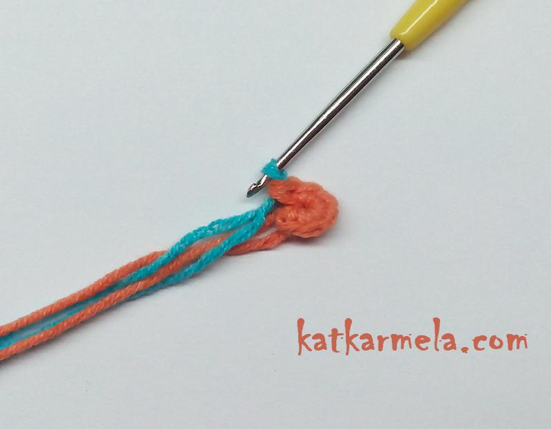 как сделать переход цветов в вязании