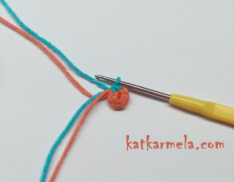 схема вязания маленького цветка
