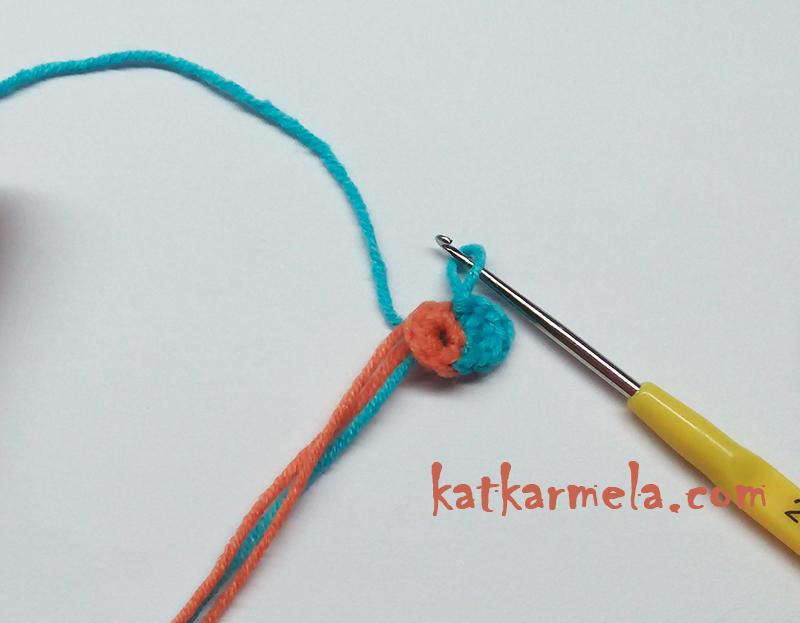 вязание цветка маленького крючком