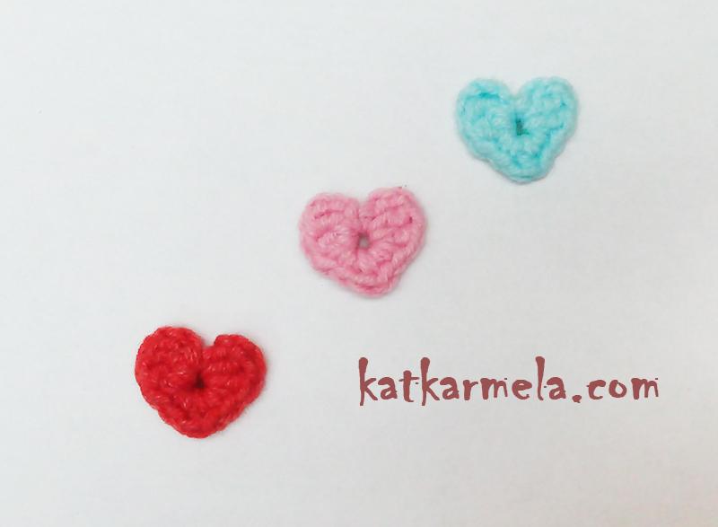 Как связать маленькое сердечко крючком для начинающих