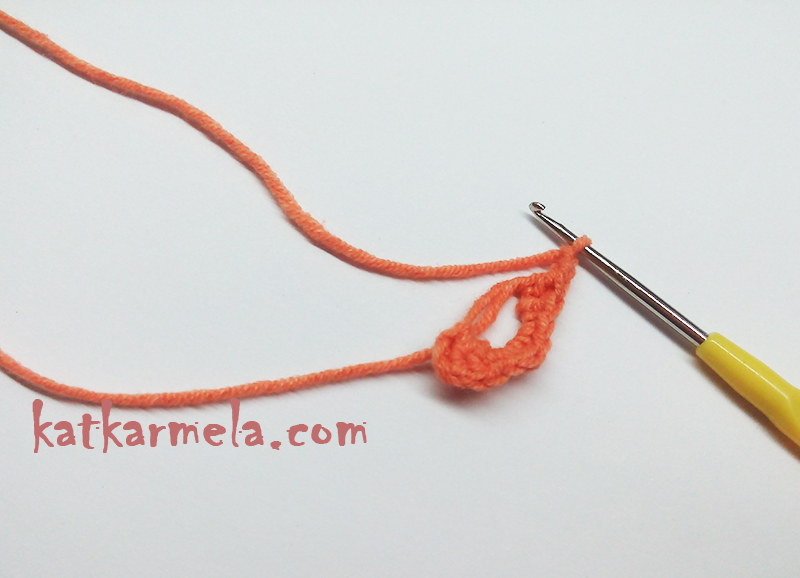 сердце крючком вязаное