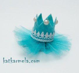 Как сделать корону из фетра и фатина для девочки