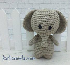 Crochet Elephant Amigurumi: free pattern by Katkarmela