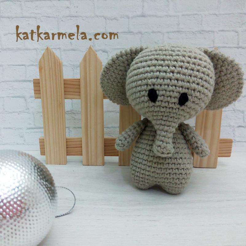 как вязать слона