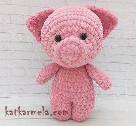 Схема вязания свинки крючком: как связать