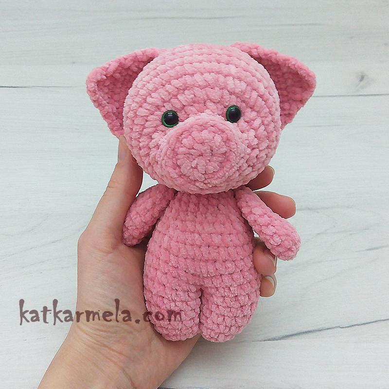 Схема вязания свинки крючком