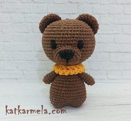 How to crochet an amigurumi bear: free pattern by Katkarmela