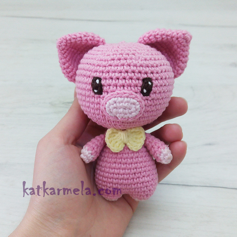 Crochet pig free amigurumi pattern - YouTube | 800x800