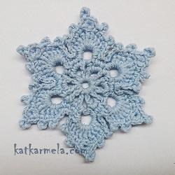 Схема красивой снежинки крючком с описанием №3