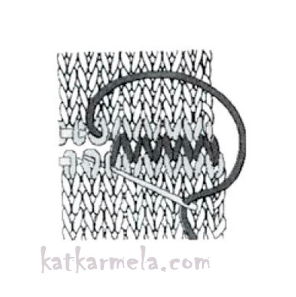 как сшить вязание