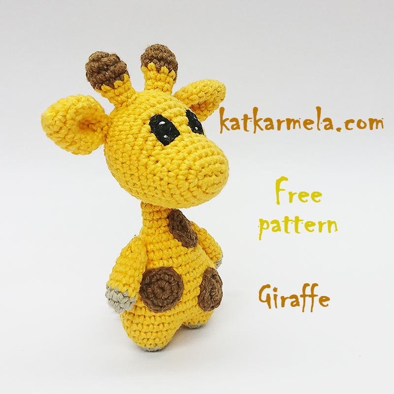 Схема жирафа амигуруми крючком